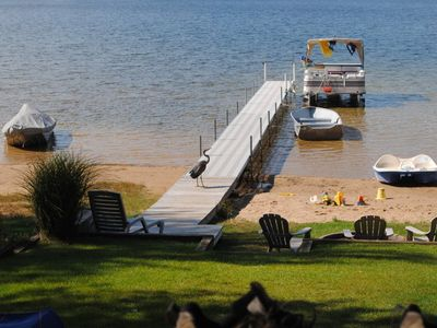 Photo for Lakefront Cottage! PONTOON BOAT rental! early June special! a 4 nt stay avail