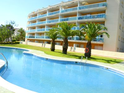 Photo for OFFER Salou Largue Terrace with sea view in quiet area.Parking ,  FREE WIFI
