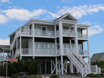Photo for Custom Built Second Row Beach Home offering 4 bedrooms, 4 full baths, 2 half baths, 2 laundry rooms, 2 kitchens, 2 great rooms!
