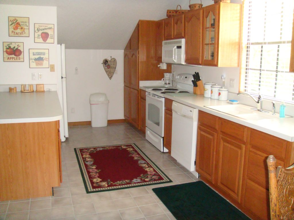 fully furnished garage apartment 2nd story vrbo kitchen
