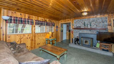 """Photo for Whispering Pine Cabins """"Cabin Fever"""" - Cozy Cabin with Whirlpool - Fireplace - near Mid-town"""