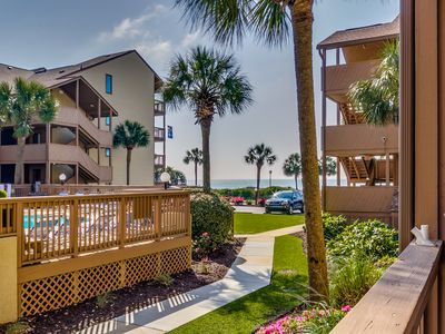 Photo for Large 2 Bedroom 2 Bath Pool / Courtyard View Condo - At The Anchorage I