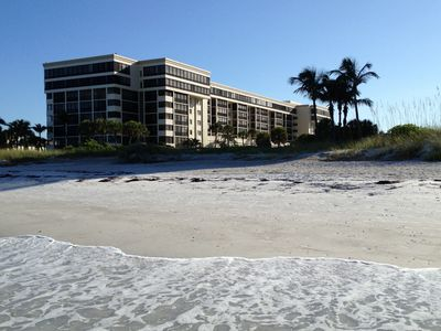 Condo is located in Lido Surf & Sand on Lido Beach, Gulf of Mexico.