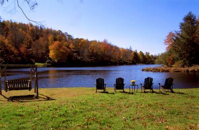 Just imagine your sitting here taking in the majestic splendor of our lake view.