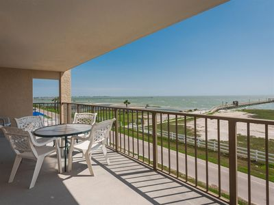 Photo for Peaceful Pelican!! PRIVATE Balcony! NEW 1000 ft LIGHTED FISHING PIER!