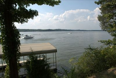 Lake front with covered dock on Old Hickory Lake o