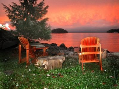 Photo for Waterfront Cottage Overlooking The Beautiful Malaspina Strait