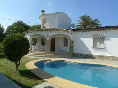 Photo for This 6-bedroom villa for up to 12 guests is located in Denia and has a private swimming pool, air-co
