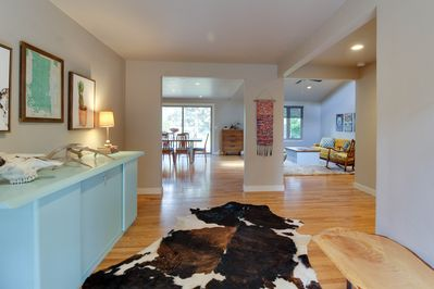 Welcome!  Come on inside and enjoy our spotless, modern and bright home.