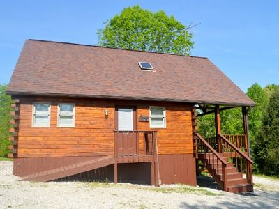 Photo for Deluxe with HOT TUB cabin #20. Located on Patoka Lake in Southern Indiana