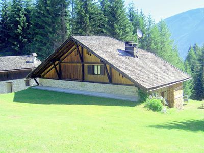 Photo for Chalet between meadow and forest in Folgarida in the Brenta Dolomites