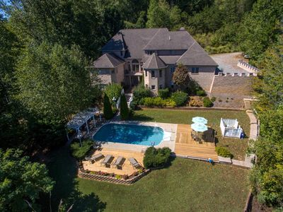 Photo for HUGE MAJESTIC CASTLE, Private Pool, 2500sf. Arcade, Hot Tub, Fire Pit, WiFi