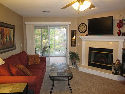 Photo for Walk in- 4 Steps- 2 Recliners- Screen Porch- 4 TVs- Clean- Indoor Pool- Golf