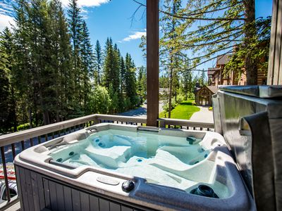 Photo for NEW LISTING! Stunning Big Mountain Ski-in/out Townhome Private Hot Tub! Sleeps 8