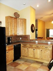 Open, spacious kitchen