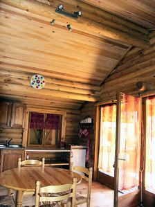 Photo for Camping Les Portes du Beaujolais **** - Chalet Rondin 3 Rooms 4/6 People