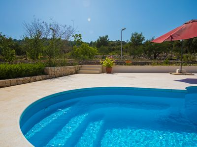 Photo for Holiday rental with large terraces and private pool near beach in Razanj