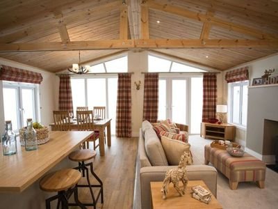 Photo for Cairn Lodge, luxury lodge with hot tub, Coldingham, Scottish Borders