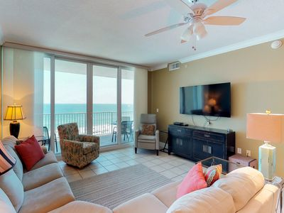 Photo for Oceanfront condo w/ shared pool & sauna, private balcony - right on the beach!