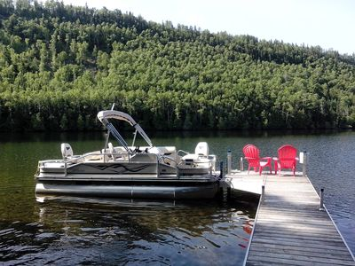Relax on the dock- or take the pontoon out for a cruise