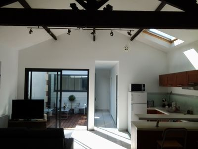 Photo for House atmosphere Loft with patio area of the port and the beach of Aiguillon