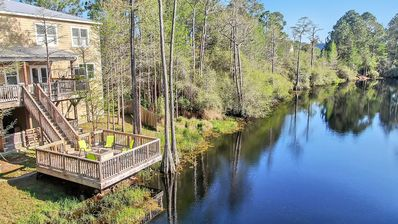Photo for 30A☼ LakeFront Deck☼Inspected & Disinfected☼4BR Blue Gulf Compound