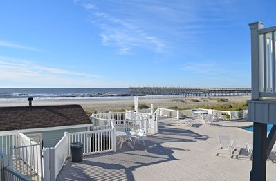 View from the Deck - that's the Ocean Isle Beach Pier