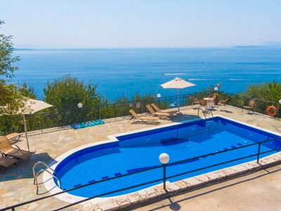 Photo for Villa Lina: Large Private Pool, Walk to Beach, Sea Views, A/C, WiFi, Eco-Friendly