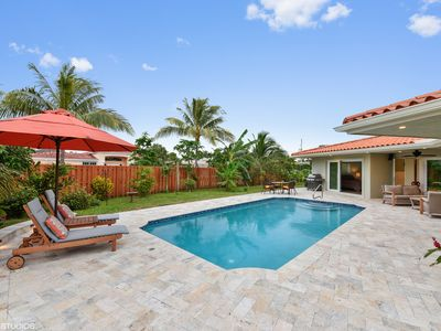 Photo for Remodeld Tropical Pool Home near Award Winning  Deerfield Beach!