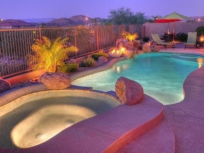Mountain Views, Very Private Back Yard with Heated Pool & Spa