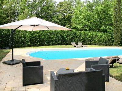 Photo for Vacation home Ferienhaus mit Pool (BEF145) in Bagnols en Forêt - 4 persons, 2 bedrooms