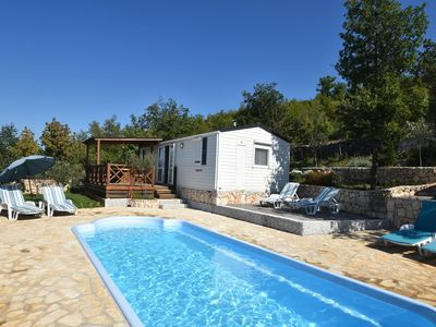 Photo for Pleasant holiday home with private swimming pool, gorgeous view and quiet location