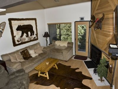 Photo for Cozy two story ski in and out condo. Easy walking distance to the park and Bristlecone pond. Enjoy t
