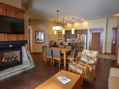 Photo for Ski-in Condo + Fireplace & Balcony | Access Hot Tubs, Pools, & Spa!