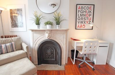 Antique Marble Mantle Adds Character To The Living Room