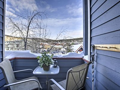 Photo for Ski-In Breckenridge Studio w/ Balcony, Hot Tub, & Pool!