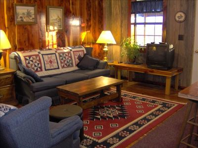 The Ranch Cabin's Living Room.