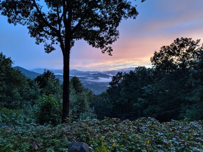 A glorious view of the Smoky Mountains from your deck!