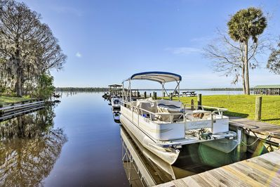 The 1-bedroom, 1-bathroom abode is situated on the St. Johns River.