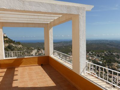 Photo for Panoramic views, two bedrooms for 4, living room, kitchen, bathroom