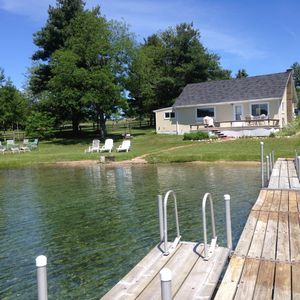 Photo for Silver Lake Cottage in Traverse City Private Frontage w/pontoon to rent