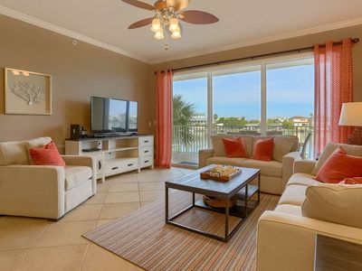 Photo for Waterfront with Big Balcony, Gourmet Kitchen & New Furniture, Wi-Fi & Cable, W/D -203 Bay Harbor