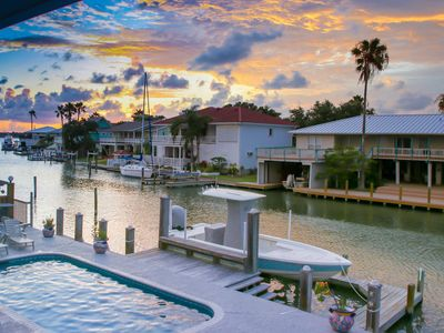 Photo for Tranquil Getaway 5 Bdr, 4 Baths, Canal Front + Private Pool