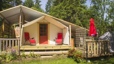 Photo for Comfortable camping in a private woodland setting