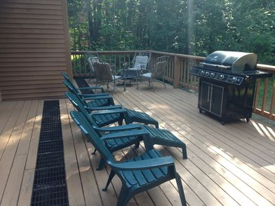 Large Back Deck In Quiet, Wooded Setting