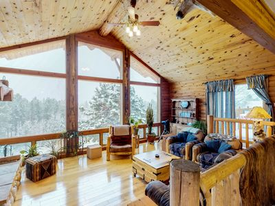 Photo for NEW LISTING! Cabin on 10 acres with private hot tub, views of Pikes Peak
