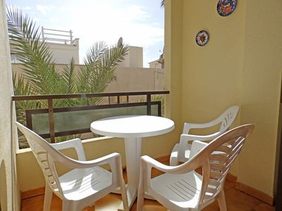 Photo for 2 bedrooms apartment with balcony located 20 mts. from playa chica