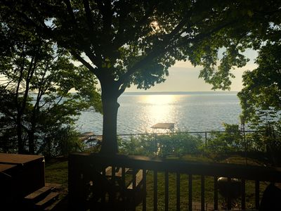 Photo for Romantic Waterfront w/Hot Tub on Wine Trail Accepts Pets