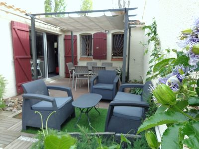 Photo for Charming villa St Cyprien Plage 4 & 6 people clim + 2 bedrooms & sofa bed