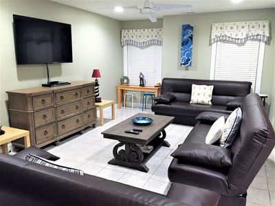 Living Room with 3 Futons
